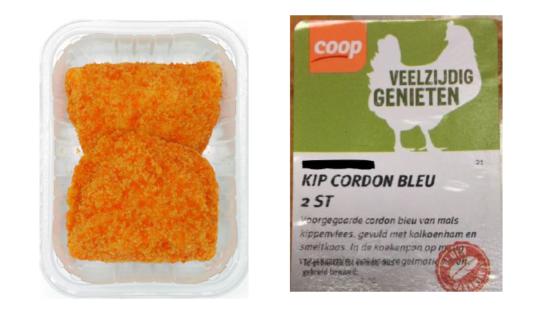 Veiligheidswaarschuwing Coop: mogelijk pinda in kip cordon bleu
