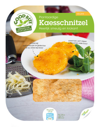 Bedrijven lanceren eerste veganistische kaasschnitzel