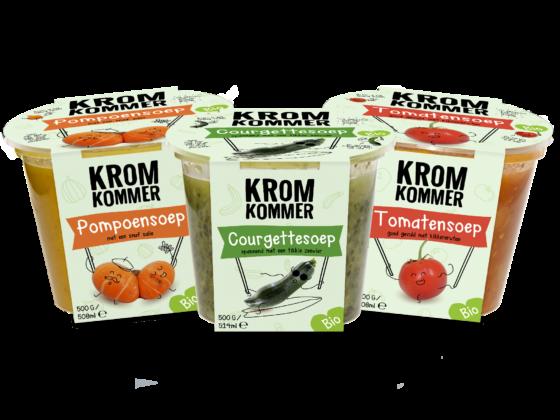 Kromkommer verwerkt ook biologische groente tot soep