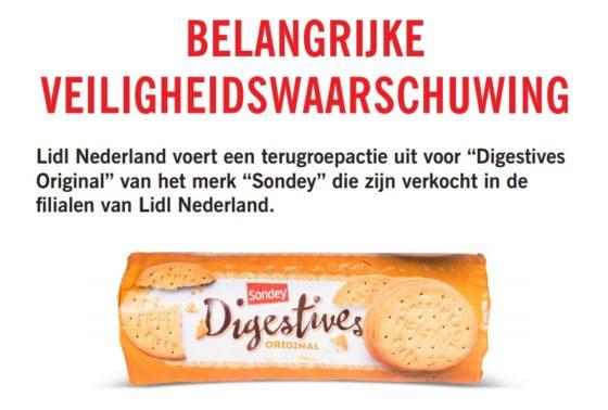 Stukjes hard plastic gevonden in biscuitjes Lidl