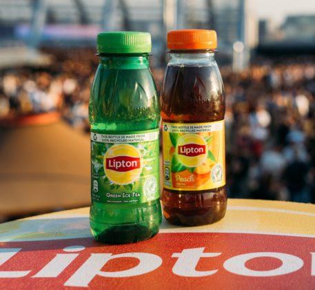 Lipton Ice Tea introduceert gerecyclede, plastic festivalfles
