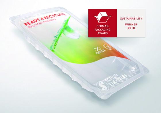 FlexiClose (re) van Schur Flexibles wint German Packaging Award 2018 voor duurzaamheid