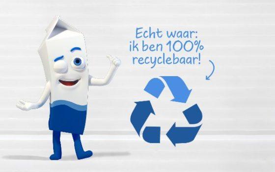 Campagne 'Zuivelpak volledig recyclebaar' informeert over recyclebaarheid drankenkartons