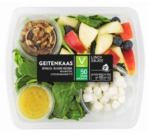 Verkeerd etiket op AH lunchsalade