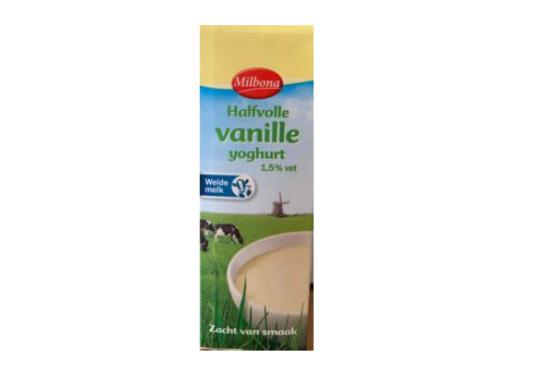 Lidl roept halfvolle vanilleyoghurt Milbona terug