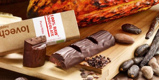 Lovechock brengt twee 'rauwe' chocoladerepen op de markt