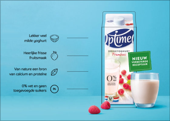 Frieslandcampina lanceert nieuwe receptuur Optimel