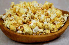 Popcorn met onkruid