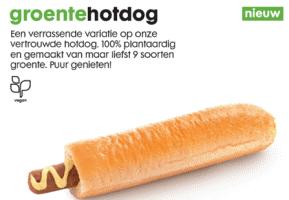 Vegan hotdog van groente