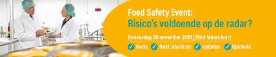 28-11 | Food Safety Event: Risico's voldoende op de radar?