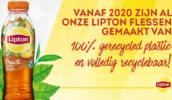 Lipton: 'Vanaf 2020 alleen nog flessen van gerecycled plastic'