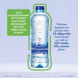 Chaudfontaineflessen vanaf nu van 100% gerecycled plastic