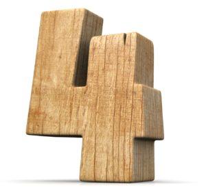 Nummer 4 hout