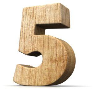 Nummer 5 hout